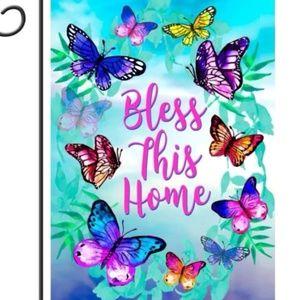 Garden Flag- New- Christian Bless This Home
